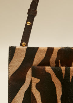 The Pocket Pouch in Zebra Haircalf