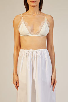 The Pasquale Bralette in Ivory