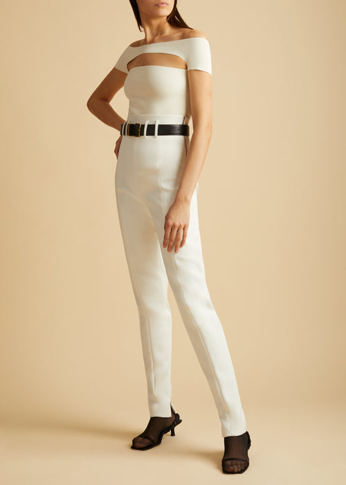 The Reba Pant in Ivory