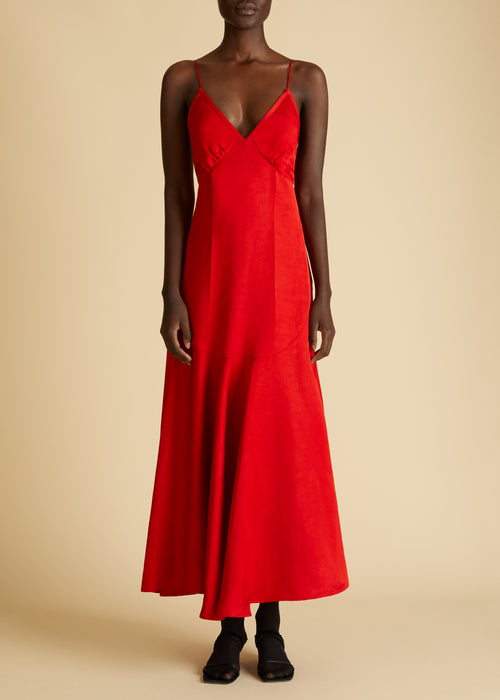 The Rini Dress in Scarlet