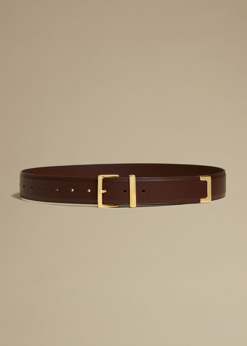 The Robbi Belt in Dark Brown