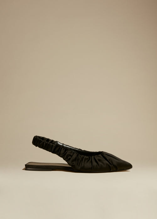 The Roma Flat in Black