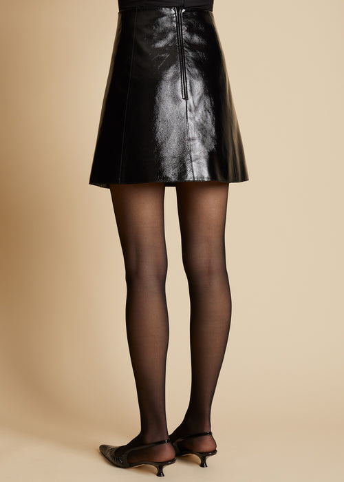 The Sam Skirt in Black Patent Leather