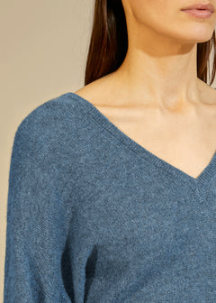 The Sam Sweater in Denim Blue
