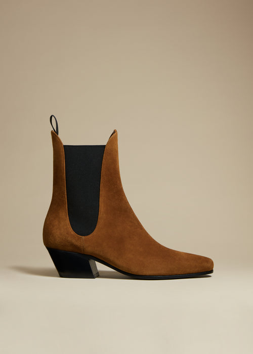 The Saratoga Boot in Caramel Suede