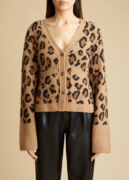 The Scarlet Cardigan in Cheetah