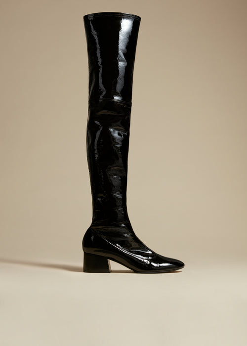 The Sedona Boot in Black Patent Leather
