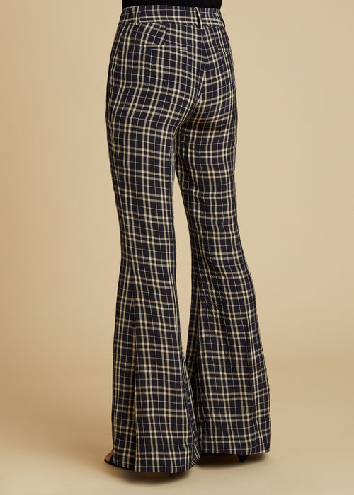 The Stockard Pant in Navy Check