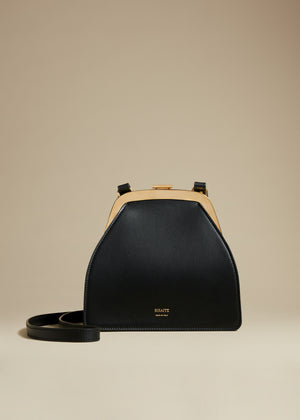 The Nellie Crossbody Bag in Black Leather