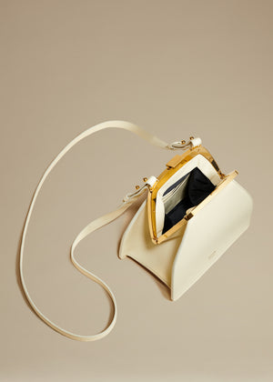 The Nellie Crossbody Bag in Cream Leather