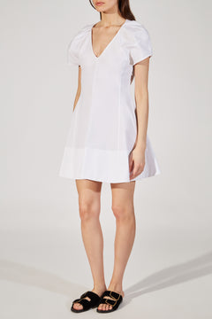 The Briana Dress in White
