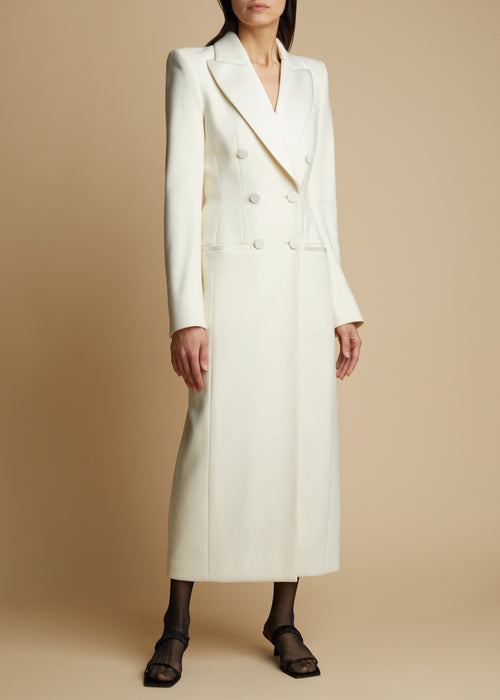 The Tania Coat in Ivory