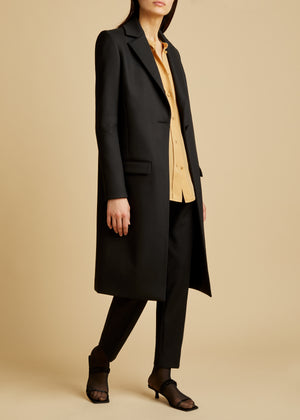 The Tara Coat in Black