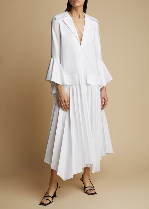 The Tova Dress in White