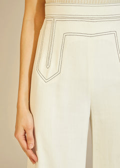 The Vera Pant in White