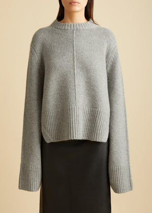 The Virginia Sweater in Warm Grey