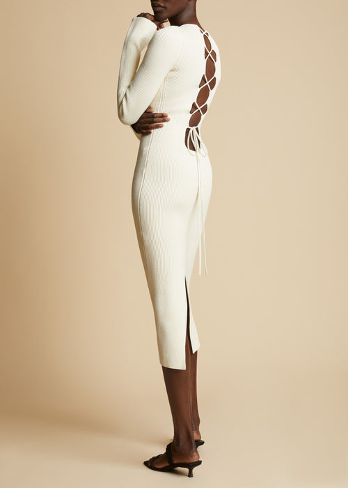 The Vivia Dress in Ivory