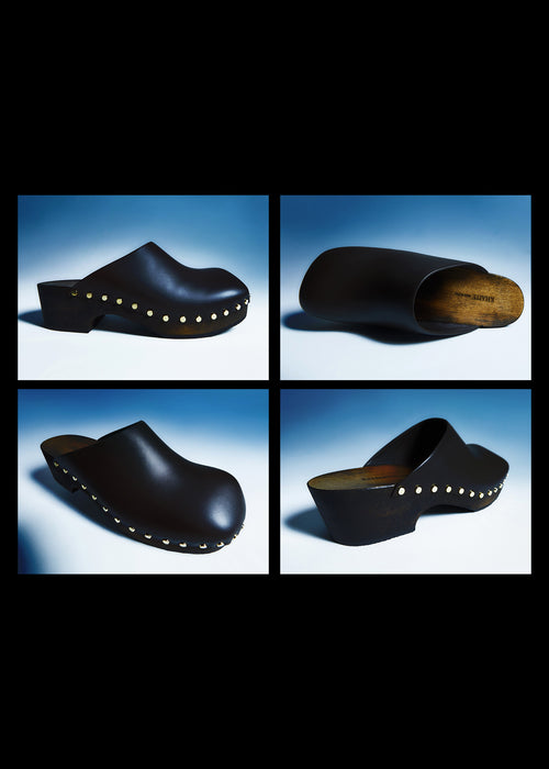 The Lucca Clog in Dark Brown