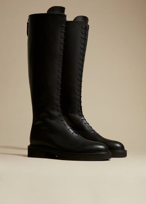 The York Boot in Black Leather