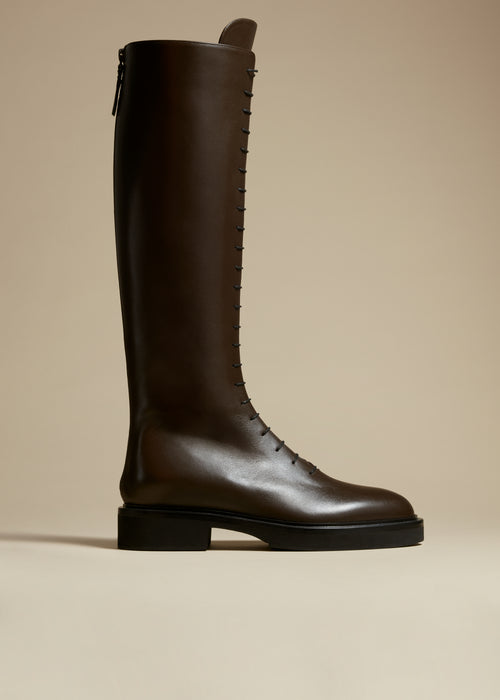 The York Boot in Dark Brown Leather