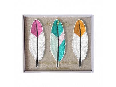 Embroided broches
