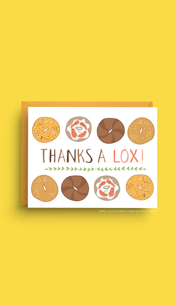 bagel card, thank you card