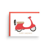 Vespa Birthday Card
