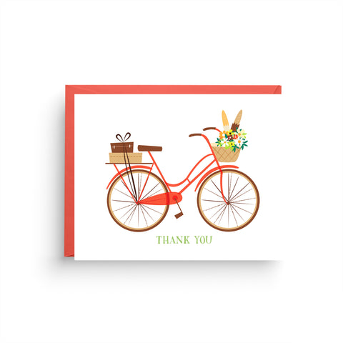 Red Bicycle Thank You Card