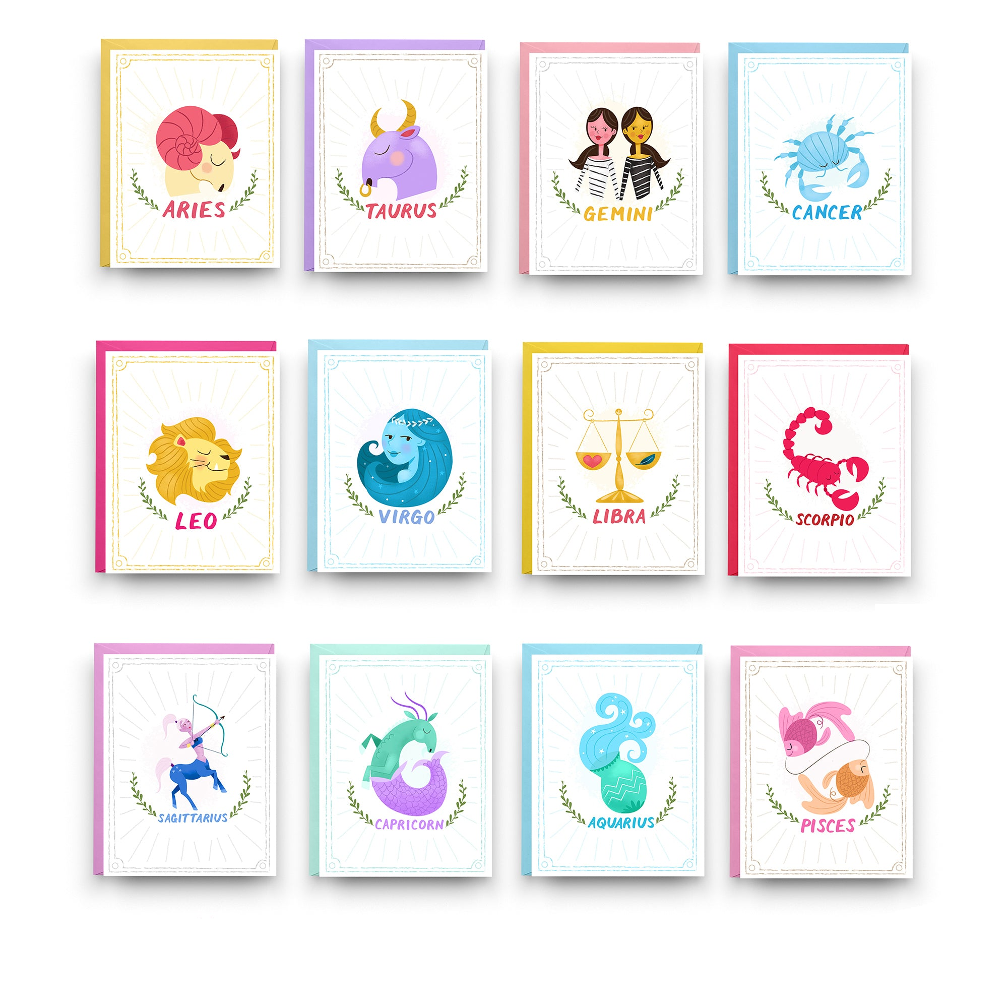 Zodiac Cards - Boxed Set of 12