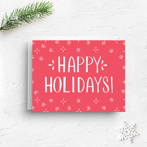 Happy Holidays - Red Christmas Greeting Card