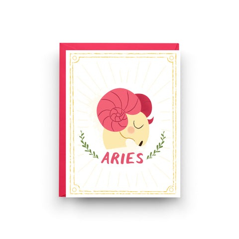 aries card, astrology card, zodiac card, zodiac birthday card, birthday card, aries birthday, astrology gift, gift for aries, aries art, aries, astrology, zodiac, birthday