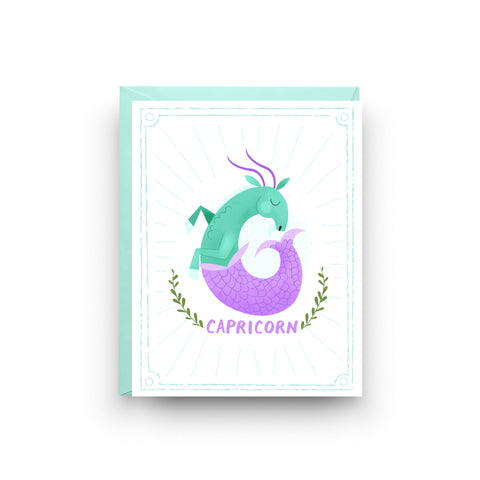 Capricorn - Zodiac Birthday Card