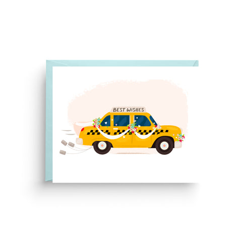 Wedding Taxi Card