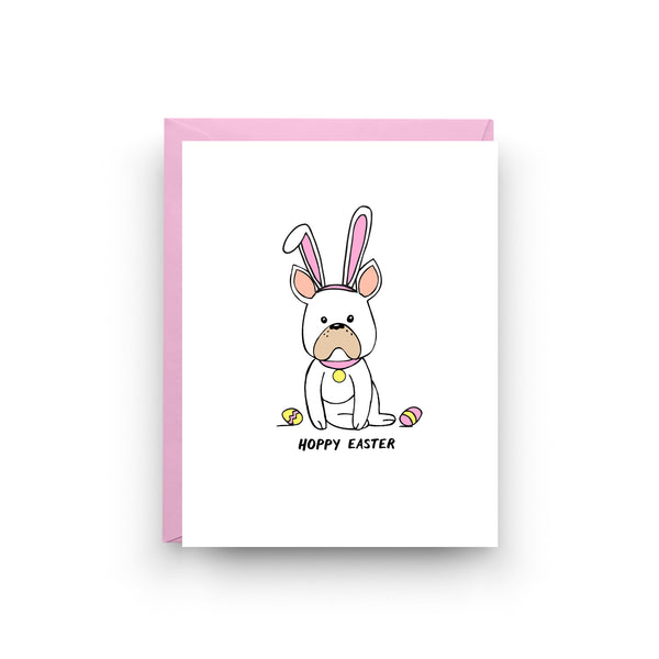 card for friend, on sale, mix and match, french bulldog card, dog card, erin go bragh, boxed set, easter card, french bulldog, hoppy easter, easter bunny card, funny easter card, easter gift