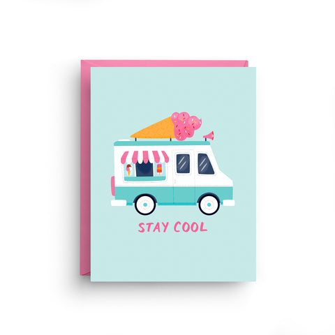 Stay Cool - Ice Cream Truck Card