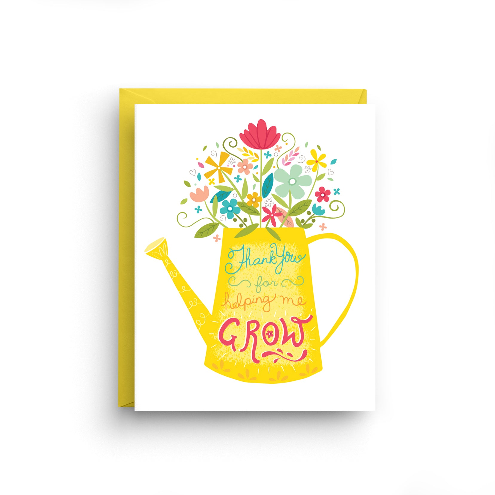 floral thank you, thank you card, helping me grow, boxed set, floral stationery, thank you stationery, grandparent card, appreciation card, yellow stationery, hand lettered card, card for mom, card for teacher, card for parent