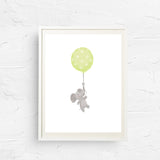 8x10, 11x14, art print, 5x7, wine gift, physical print, wall decor, office art, baby elephant print, balloon print, nursery art, new baby gift, baby shower gift