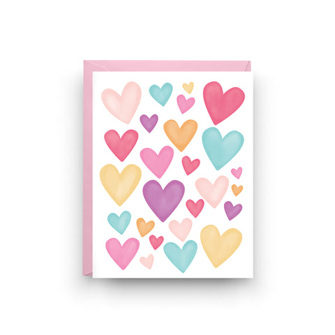 heart card, i love you card, hearts card, i love you, valentine, cute i love you card, pride card, peace card, valentine's day, love is all you need, on sale, heart stationery, boxed set of 6