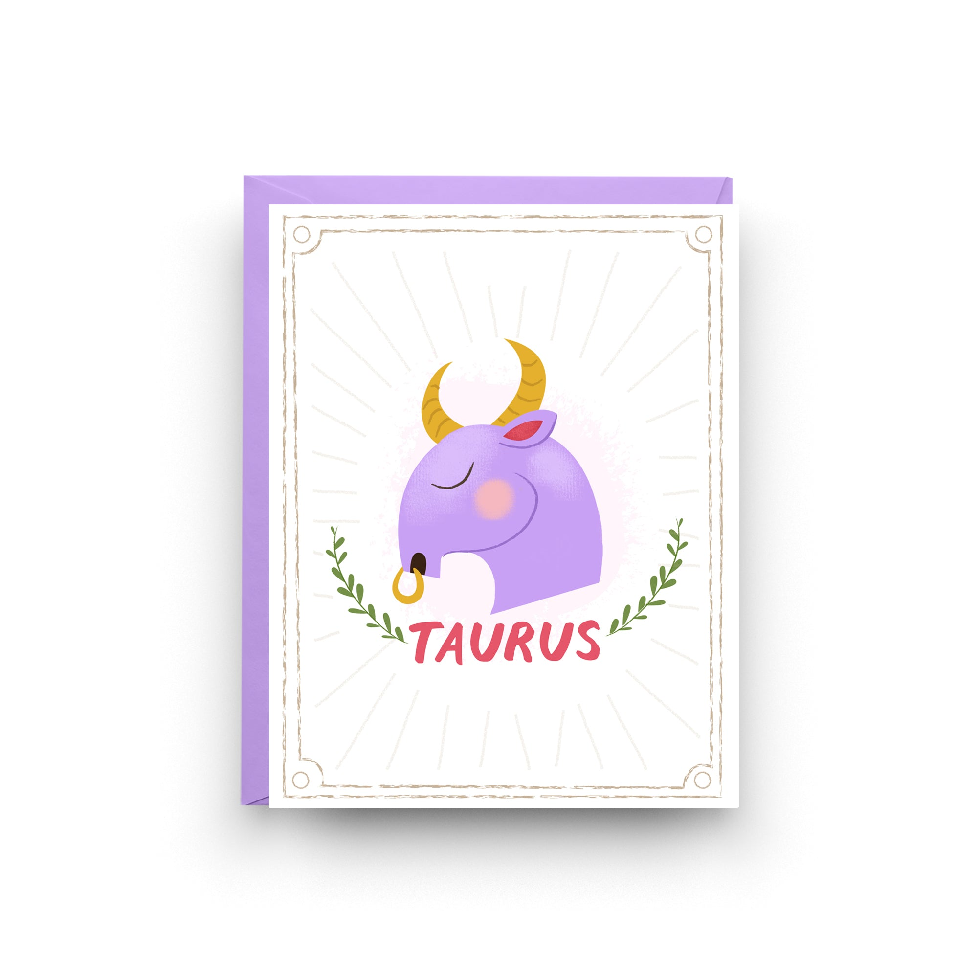Taurus - Zodiac Birthday Card