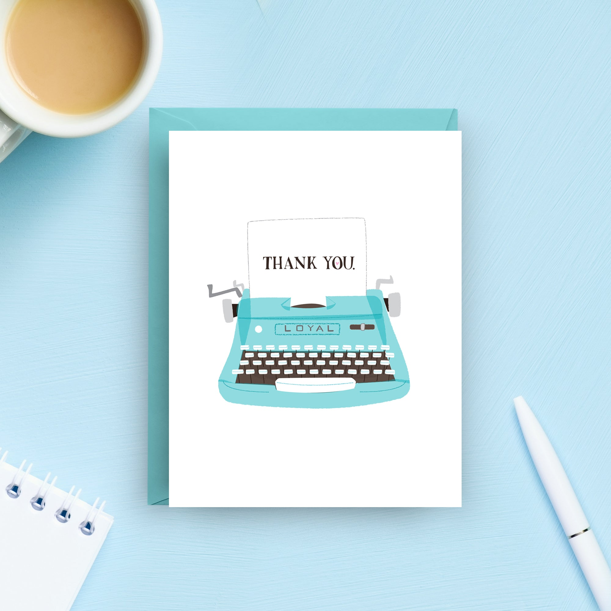Vintage Typewriter Thank You Card