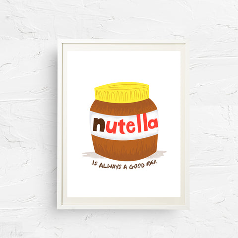 8x10, 11x14, art print, 5x7, physical print, wall decor, office art, nutella, art for kitchen, gift for new home, food print, nutella lover, food lover gift