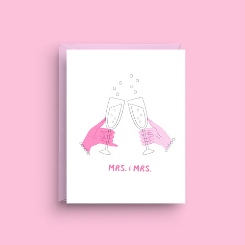 Mrs. and Mrs. Lesbian Wedding Card