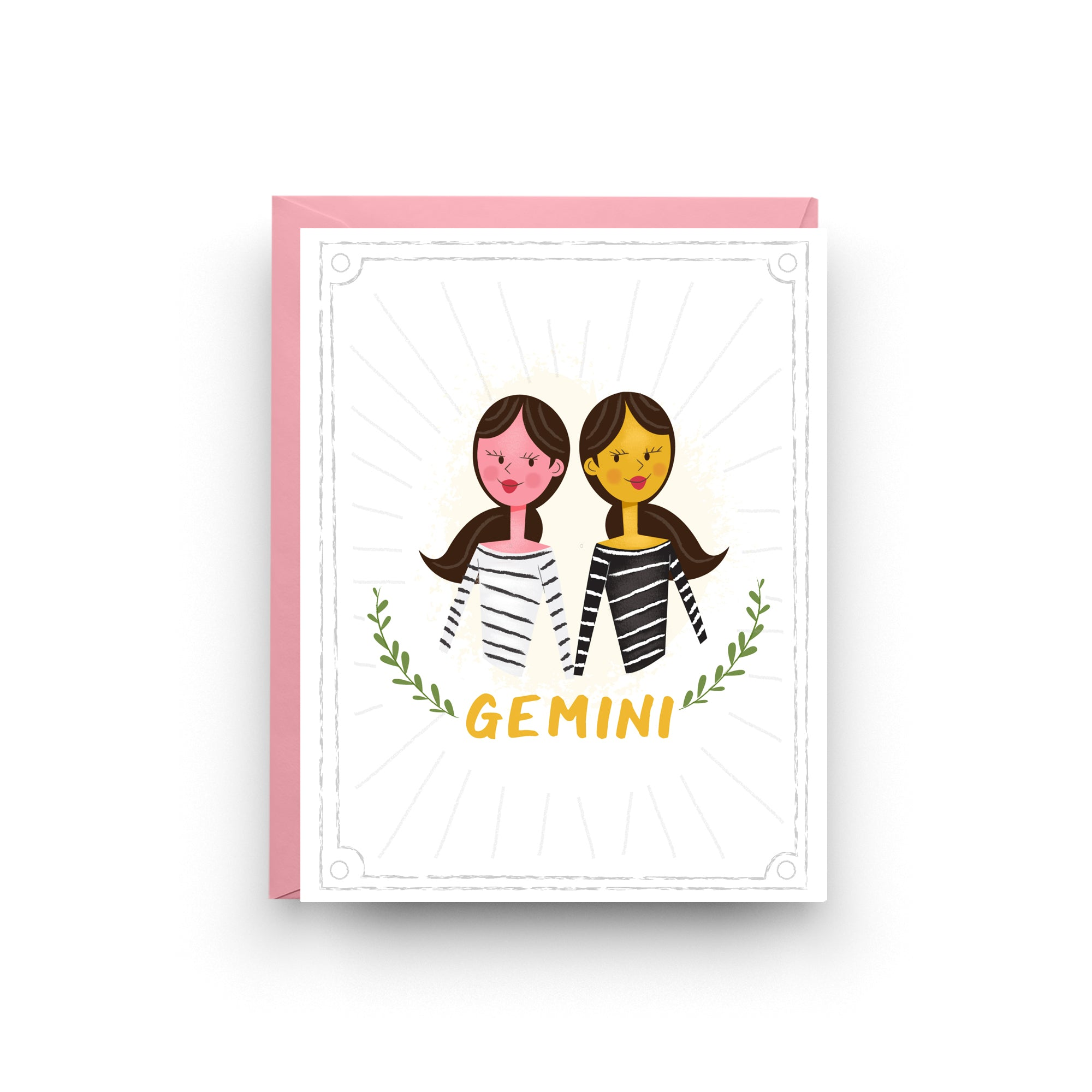 Gemini - Zodiac Birthday Card