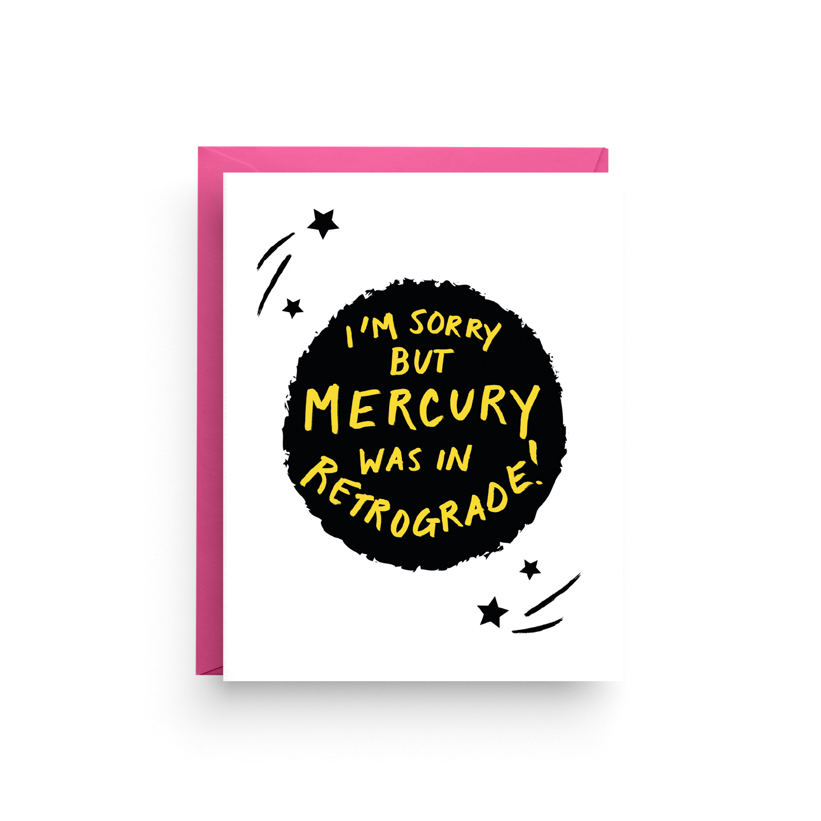 Mercury in Retrograde - Blank Card