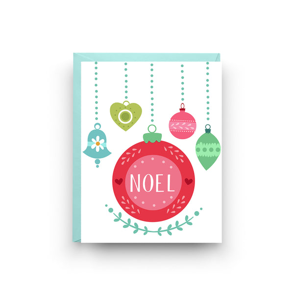 Noel Christmas Ornament Card