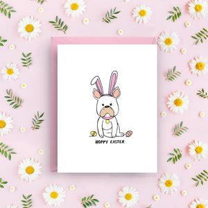 Hoppy Easter - French Bulldog Card