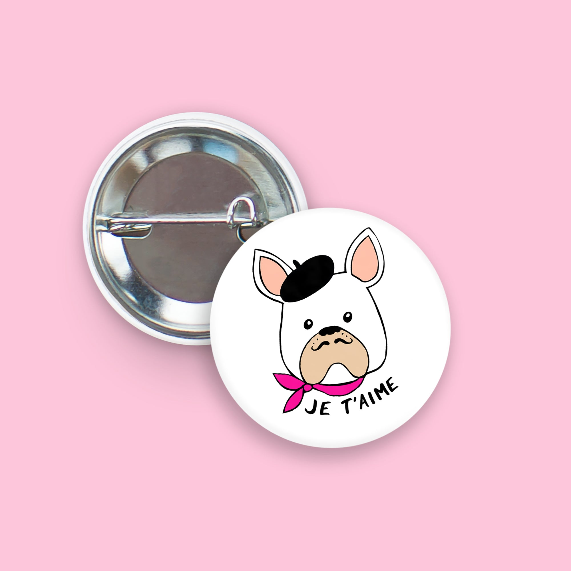 French Bulldog Pin-Back Button