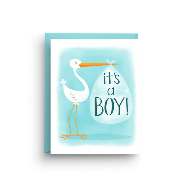 new baby card, it's a boy, it's a girl, it's twins, baby shower card, nicole marie paperie