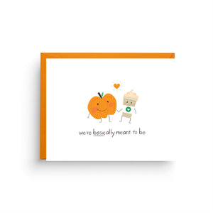 funny card, halloween card, candy card, halloween gift, card for friend, happy halloween, pun cards, pumpkin card, pumpkin spice latte, psl card, i love you card, basic af card, on sale