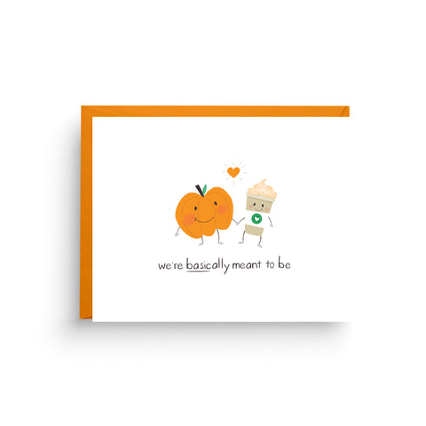 Funny Pumpkin Spice Latte Card